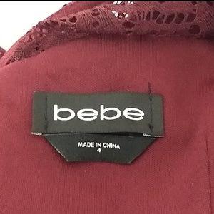 bebe Dresses - bebe Size 4 Lace Cold Shoulder Dress GUC